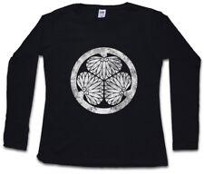 ? Tokugawa clan logotipo mon señora manga larga T-Shirt Oda Nobunaga Leyasu Ninja bandera