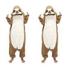 sloth Pyjamas Kostüm Jumpsuit Tier Schlafanzug Erwachsene Unisex Fasching New