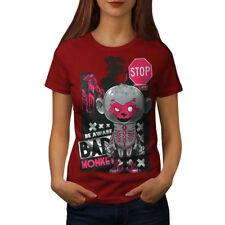 Bad Monkey detener Zombie Mujer Camiseta Nuevo | wellcoda
