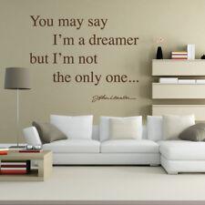 You may say I'm a Dreamer... Imagine Lyrics - Lennon - Wall Quote, Wall Art Stic