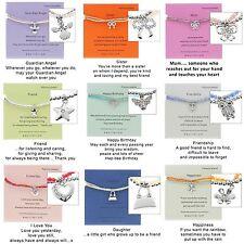 Equilibrio doppio messaggio Amicizia Charm Bracelets diverse fantasie
