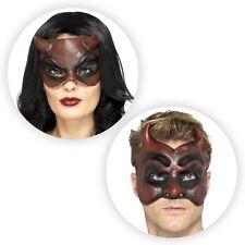 Deluxe Red Latex Devil Diablo Mask Halloween Fancy Dress Demon Couples Costume
