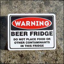 Bier Kühlschrank vinyl Sticker aufkleber Spaß lustig no food schadstoffe