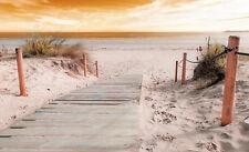 VLIES Fototapete-DÜNEN- -Strand Meer Sonne Nordsee Ostsee Sylt Gras XXL 10669