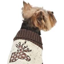 Zack & Zoey Northern Woods Moose Applique Dog Turtleneck Sweater