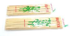 "12"" OR 10"" BAMBOO SKEWERS STICKS FOR BBQ GRILL FRUIT, FONDUE KEBAB & 300 STICKS"