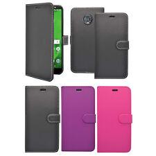 Motorola Moto G6 Plus Libro De Cartera Abatible en varios colores FUNDA