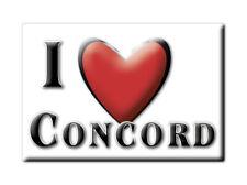 SOUVENIR UK - ENGLAND FRIDGE MAGNET UNITED KINGDOM I LOVE CONCORD (DURHAM)