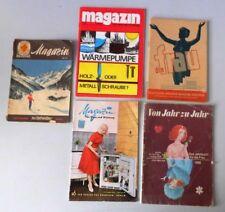Verschiedene alte Hefte - DDR - für die Frau / für Haus und Wohnung / Tchibo