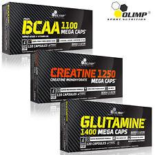 BCAA & CREATINE MONOHYDRATE & GLUTAMINE 90/180 Capsules Protein Amino Acids BEST