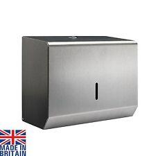 Small Hand Paper Towel Dispenser Brushed Polished Steel Metal C Fold Multifold