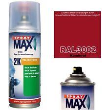 Spraydose 2K Lackspray Matt Seidenmatt Glänzend RAL 3002 KAMINROT Acryllack