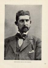 1899= FERDINANDO DI ROMANIA= Re d'Europa= ANTICA FOTO