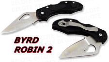 Spyderco Byrd Robin 2 Plastic Handle Plain BY10PBK2 NEW