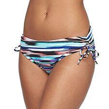 Apt 9 Size S M L XL XXL Multi Abstract Stripe Side Tie Hipster Bikini Bottoms