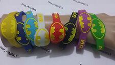 Batman Classic Logo Sport Rubber silicone Bracelet Wristband unisex 8 colours