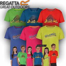 Regatta Bambini T Shirt Ragazzi Ragazze TEE Alvarado gioco all'aperto che esegue Active Top
