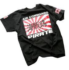 Pirate T-SHIRT BLACK aircommando, pirata, SKULL, Gothic,