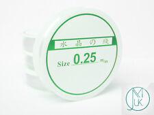 Clear Nylon Monofilament Spool Beading String Nonelastic 0.25/0.35/0.45