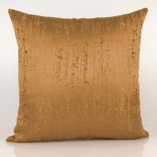 Ocher Gold Throw Pillow Cover, Decorative Pillow Cover - Satin Blend