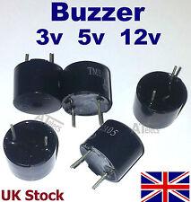 Buzzer , Continuous Beep, 3V 5V 12V   Tone, Alarm, PCB Mount - UK Stock