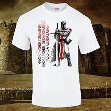 Caballero Templario Cruzado Teutónico Creed Calidad Premium DTG camiseta S-5XL