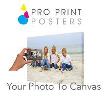 La tua foto su tela stampa A0 (32x46 pollici)