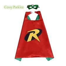 Kids Teenage Adults Robin Cape & Mask Superhero Costume Accessory