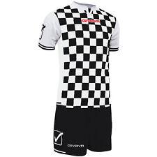 Givova Competition Football Team Club Kit Strip Black/White