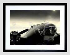 MEMPHIS BELLE VINTAGE AEROPLANE BLACK FRAME FRAMED ART PRINT PICTURE B12X8813
