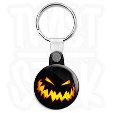 Halloween Pumpkin Zig Zag Lantern - 25mm Keyring Button Badge, Zip Pull Option