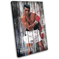 Muhammad Ali Boxing Vintage Sports SINGLE TOILE murale ART Photo Print