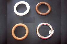 3 x Holzringe, oder 3 x Kunststoff Ringe Ø 57 mm , Gardienen, Ringe, Holzring