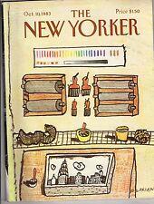 1983 New Yorker October 10 - Baker's Chrysler Tower Birthday cake