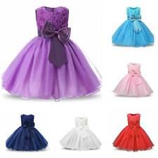 Flower Girls Princess Dress Kids Party Wedding Pageant Formal Lace Tutu Dresses