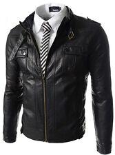Giacca Giubbotto in Pelle Uomo Men Leather Jacket Veste Blouson Homme Cuir N11c