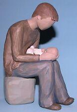 """Willow Tree, """"New Dad"""" Figurine, #26129, Demdaco, Man w child Father"""