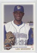 2000 Grandstand Midland RockHounds #33 Leo Vasquez Rookie Baseball Card