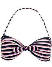 Ladies Womans Twist Bow Knot Bikini Top Monsoon blue swimming 8 10 12 14 16 CZP