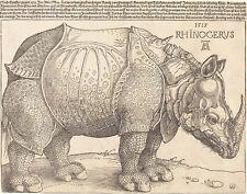 ALBRECHT DURER-IL RINOCERONTE vintage fine art print