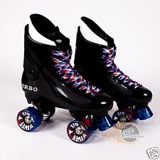 Ventro Pro Turbo Quad Roller Skates, Bauer Style - Red Blue