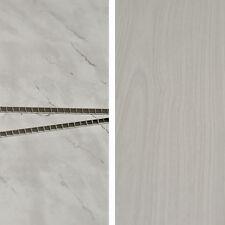 White Ash 3d Woodgrain & Light Grey Stone Bathroom Kitchen Wall Cladding Panels