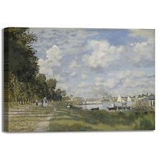Monet bacino Argenteuil design quadro stampa tela dipinto telaio arredo casa
