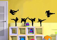 Set De 6 Karate Artes Marciales De Pared de vinilo gráfico De Pared