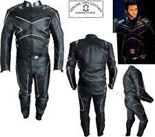 X-MEN STILE UOMO CE ARMATURA NERO MOTOCICLETTA/GIUBBOTTO MOTO IN PELLE COMPLETO