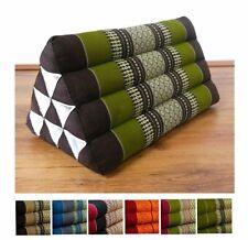 100% Kapok Wedge Thai Triangle Cushion (32x32x50cm) Bed Bolster Pillow Asia