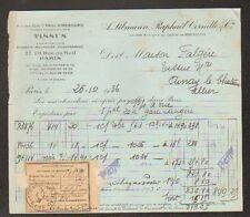 """PARIS (II°) USINE de TISSUS """"A. LIBMANN , Raphael CORNILLE & Cie"""" en 1936"""