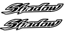 HONDA SHADOW TANK FENDER STICKERS DECALS (2x)