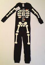 NWT Gymboree 3 3T Glow in the Dark Skeleton Creatures One-Piece Gymmies Pajamas