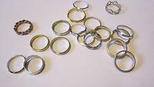 Fedine assortite ferma anello in argento 925 e 800. Silver ring